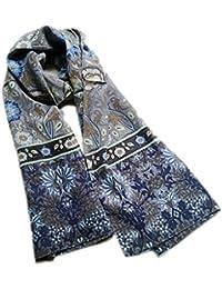 Prettystern - 160cm William Morris - Jardin de fleurs peinture décorative art print longue écharpe de soie