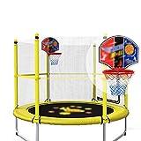 59 Zoll Trampolin für Kinder mit Basketballkorb und Backboard Enclosure Net Jumping Mat und Sicherheit Spring Cover