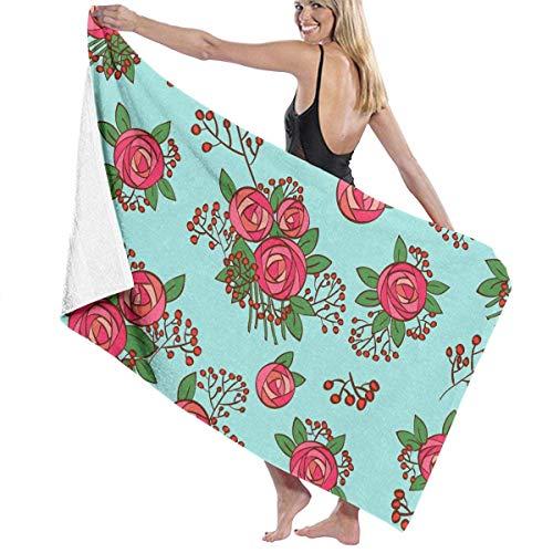 xcvgcxcvasda Serviette de bain, Bouquet Premium 100% Polyester Large Beach Towel, Suitable for Hotel, Swimming Pool, Gym, Beach, Natural, Soft, Quick Drying Bouquet Serviette