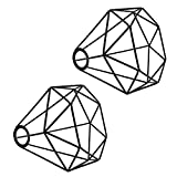 Metal Wire Birdcage Lampshade, Motent 6.2 inches Dia Vintage Industrial Black Diamond Cage Chandelier Lamp Shade Wall Lamp Ceiling Pendant Light Fixture Set for Hotel Boutique Outlet Stage - Set of 2