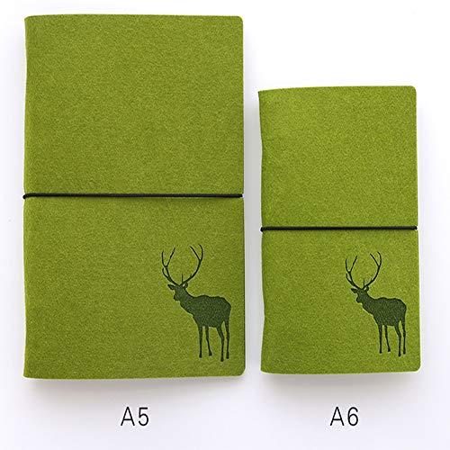 Notebook A5 - Feltro A Fogli Mobili A6 A Fogli Verdi A5 Verde