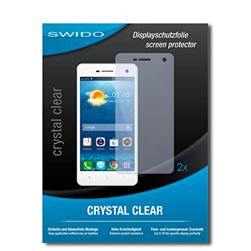 SWIDO Schutzfolie für Oppo Mirror 3 [2 Stück] Kristall-Klar, Hoher Härtegrad, Schutz vor Öl, Staub & Kratzer/Glasfolie, Bildschirmschutz, Bildschirmschutzfolie, Panzerglas-Folie