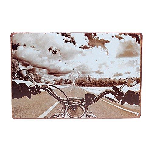 kentop Cartel de chapa de metal, diseño vintage de cartel autopista Moto pared placa pared joyas para bar, comedor, Café, billar de hogar, hotel, Club