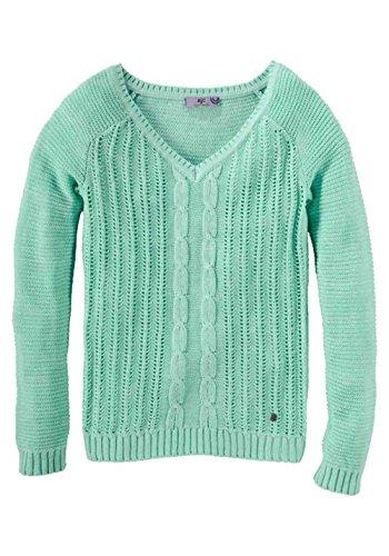AJC Damen Zopfstrick Pullover Mint 40/42
