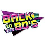 Beistle 543111er Pack Back to The 80's Schild Party Dekorationen, 15–1/2von 24