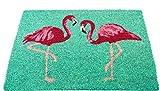 Stil Premium Flamingo Fußmatte/Fussmatte/Deko/Fußabstreifer/Fußabtreter/Kokosmatte/Schmutzmatte - Größe : 40 x 60 cm