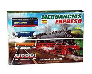 Servicios E Industrias Del Juguete - Tren mercancía expreso con luz, 100 x 100 cm
