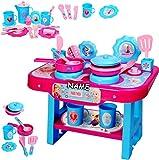 Unbekannt große Kinderküche - incl. Zubehör ! -  Disney Frozen - die Eiskönigin  - incl. Name - für Kinder - Geschirr & Töpfe - Spielküche aus Kunststoff / Plastik - ..