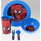 Spider-Man Spiderman Frühstück/Mittagessen/Abendessen Kinder Kids Set Five Pcs Set.