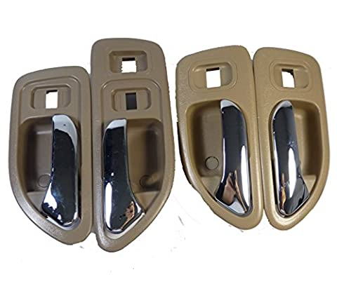 NEW INSIDE DOOR HANDLE BEIGE FL FR RL RR 4PCS 72165SV4003 Fit For Honda Accord Odyssey 1998-2004
