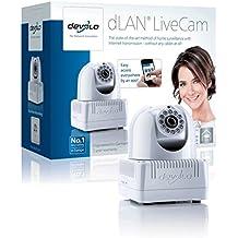 Devolo dLAN LiveCam - Cámara de vigilancia (640 x 480, 200 Mbit/s, 128 bit), color blanco