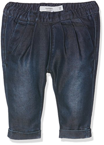NAME IT Baby-Mädchen Jeanshose Nitetta Reg/Slim Dnm Pant Mznb Ger, Blau (Dark Blue Denim), 56