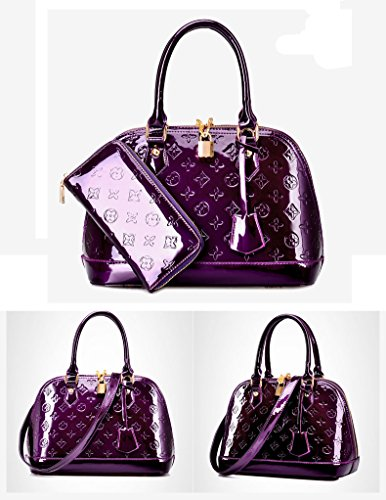 Oruil, Borsa a mano donna, Black (Nero) - Tw18 Purple