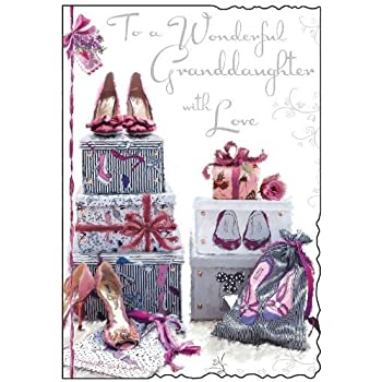 Granddaughter Shoes Birthday Card JJ8375