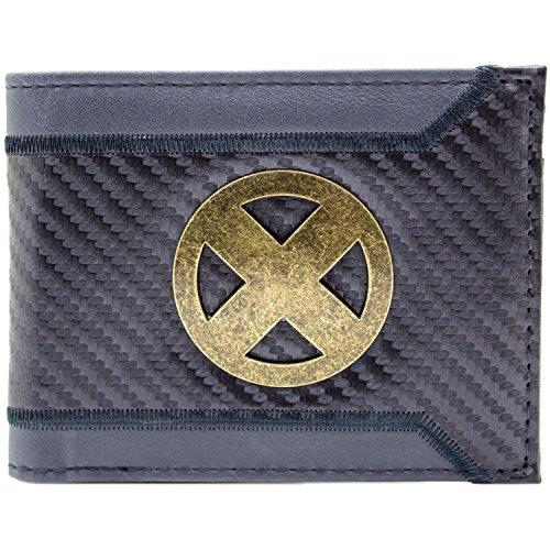 X-Men Schick Machen Gold Abzeichen Grau Portemonnaie Geldbörse (Kind Mystique Kostüm)