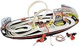 Playtastic Mini Autorennbahn: Portable Rennbahn im Koffer mit Looping & Handkurbel (Mini Rennbahn)