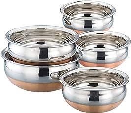 Classic Essentials Stainless Steel Handi Set, 5-Pieces, Silver
