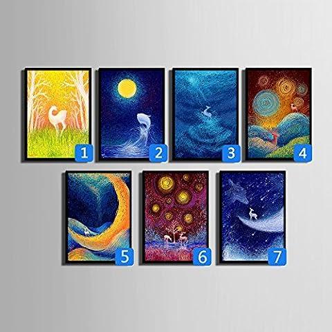 modylee Fantasy Star con telone Video decorativa dipinti soggiorno, camera PC 1tela pittura a olio, 40*60