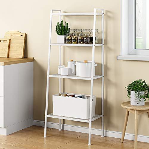 Soges scaffale libreria scaffale 4-tier storage rack ripiani scaffale della scala espositore da terra in metallo fioriera per piante, bianca, rzr-lxh-tj60w