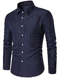 5d33cdd574f9f Camisa para Hombre AIMEE7 Camisas Hombre Manga Larga Casual