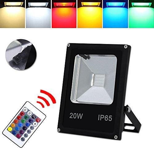 HG® Foco RGB 20W LED Proyector Resistente al agua IP65 Lámpara Exterior...