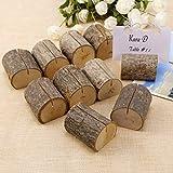 Generic Holder 10PCS Stand Stand Place Wood wedding party nome memo tabella numero carta titolare 10PCS legno festa di nozze tavolo