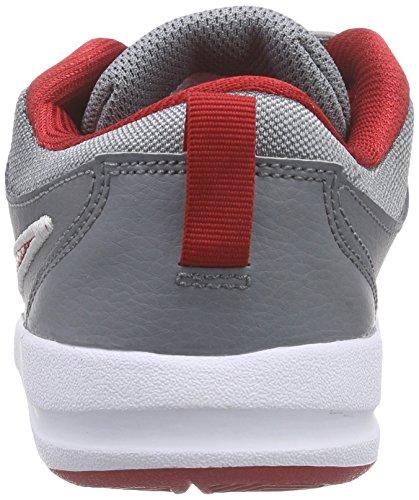 Nike Pico 4 (PSV) Scarpe Sportive, Bambina Grigio (Cool Grey/Gym Red-White 019)