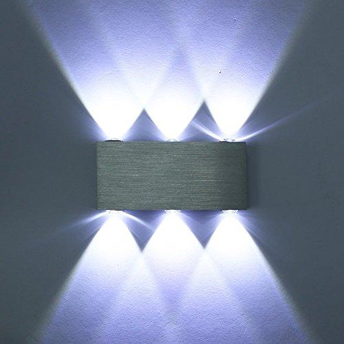 Deckey LED Lampada Da Parete Applique Moderno Per Illuminazione Luce Effetto Da Interno 6W/ 8W/ 18W, Bianco Caldo/ Bianco Freddo (Freddo