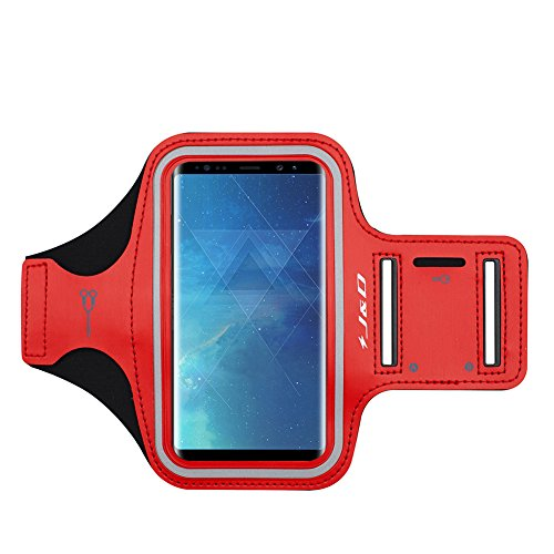 J&D Compatibile per Galaxy A80/A70/A50/A30/A20/A10/Note 9/Note 8/Note 5/M30/M20/M10/A8s/J4 Plus/A7 2018/A9 2018 Fascia da braccio Sportiva, Bracciale con Portachiavi slot & Connessione Auricolare