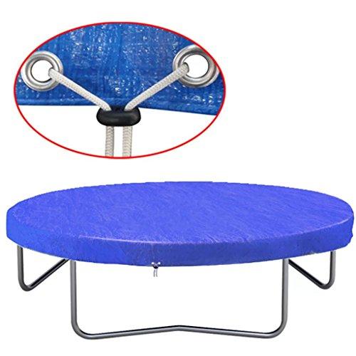 Festnight- Trampolinabdeckung PE Trampolin Federabdeckung für Durchmesser 360-367 cm 90 g/m²