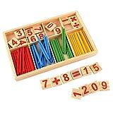 Giocattolo matematica Numero Di Blocchi Di Bastoni Di Conteggio Di Legno Dei Bambini, Giocattoli Educativi Di Per La Matematica Prescolare Giocattolo Del Bastone Di Intelligenza Montessori Regalo Per