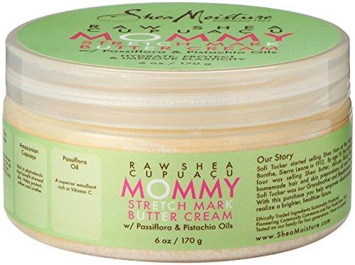 Shea Moisture Raw Shea Cupuacu Mommy Stretch Mark Butter Creme für Frauen, 170 ml - 6 Oz Shea-butter