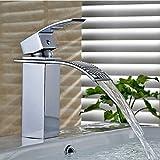 Auralum Wasserfall Niederdruck Waschtischarmatur mit Chromüberzug für Waschbecken