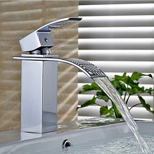 Auralum® Design Armatur Wasserhahn Waschtischarmaturen chrom für Waschbecken Badezimmer