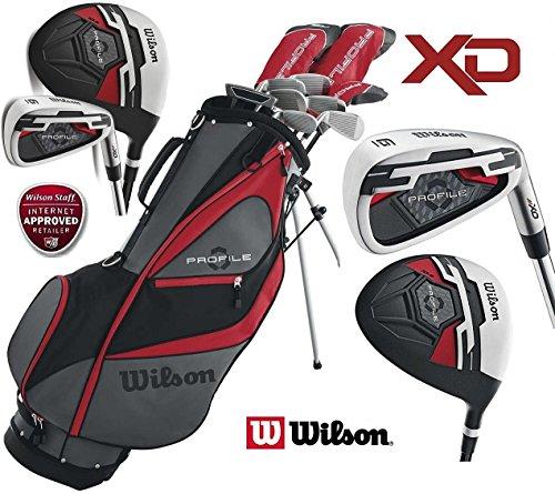 Wilson Profile XD Golfset, Herren, komplett, Graphit, Deluxe, Standbag (Fairway Holz 4 Graphit)