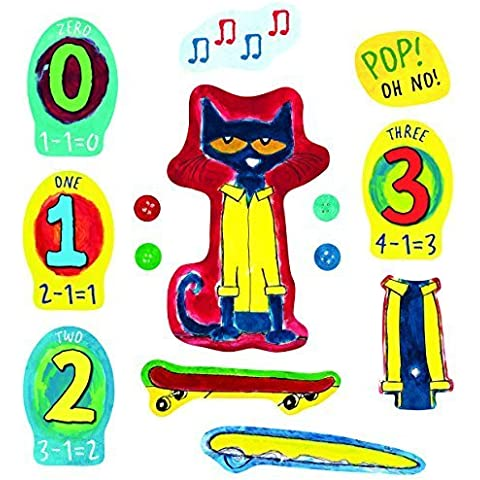 Little Folk Visuals Pete the Cat and His Four Groovy Buttons Felt Figures for Flannel Board Stories by Little Folk Visuals