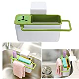 Shopo's Kitchen Multi functional Suction Cup Rack Shelf Draining Sink Caddy Sponge Cleaning Cloth Holder With Brush Holder