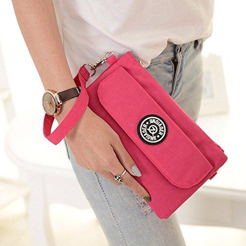 Outreo Handtasche Damen Schultertasche Mode Umhängetasche Wasserdicht Taschen Leichter Reisetasche Kleine Messenger Bag Rot 2