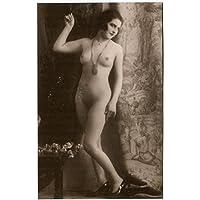 Ritratto di Nudo di donna in piedi con collana - FP B/N Cartolina Postale