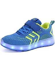 cc7ce7dcc51 KCHKUI-UK Enfants LED Chaussures de Sport 7 Changement de Couleur Chaussure  USB Rechargeable LED