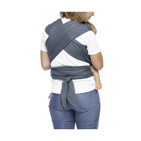 MOBY Evolution Baby Wrap Carrier for Newborn to Toddler up to 30lbs, Baby Sling from Birth, One Size Fits All, Breathable Stretchy Made from 70% Viscose 30% Cotton, Unisex Moby 70% Viscose / 30% Cotton Knit One-size-fits-all Grows with baby, from newborn to toddler 28