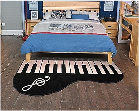 Sannix en microfibre doux Chambre à coucher et salle de bain avec accents de piano Tapis de sol de décoration de la maison Fun Creative Tapis et moquettes, 50,8cm par 78,7cm, Piano-Right, 19.6