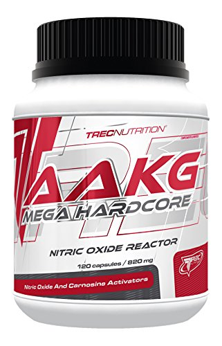 Trec Nutrition AAKG Mega Hardcore Booster Muskelaufbau Aminosäure extremer Pump mit L-Citrullin-Malat Bodybuilding 120 Kapseln - Aakg Pulver