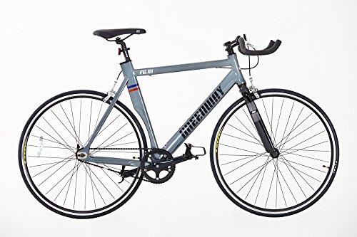 Greenway Lega Fixed Gear Bike, Bambino, AFG01GREY56, Grey, 56 cm