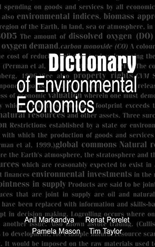 Dictionary of Environmental Economics (English Edition)
