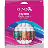 Reeves - Set de 18 tubos de gouache, 10 ml