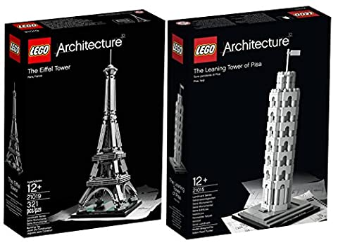 LEGO Architecture Europe Bundle: Tower of Pisa 21015 and Eiffel Tower 21019 by LEGO