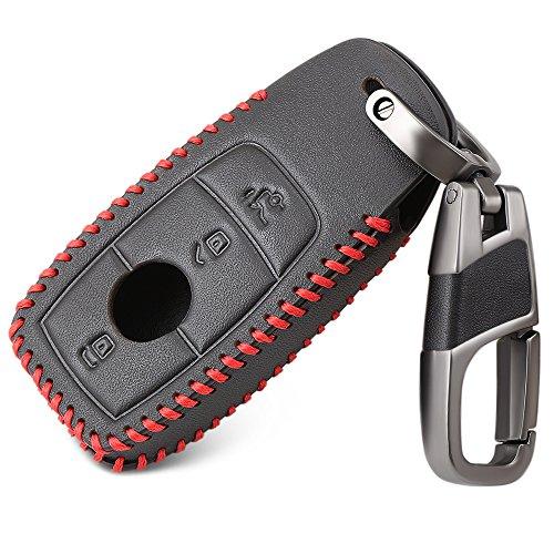 Bucada 3 Tasten Leder Tasche Protector Key FOB Cover Smart Auto Fernbedienung Halter (Smart-auto-fernbedienung)