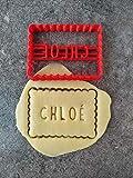 Emporte-pièce personnalisé petit beurre - 1 prénom - Conçu et fabriqué en France