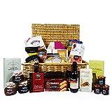 'Un sabor de lujo' de mimbre Cesto regalo tradicional cesta con 25 productos Gourmet Alimentación